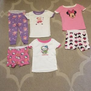 Bundle of girls size 18-24 months pjs